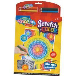 Omalovánky Colorino Scratch and color - 12 motivů