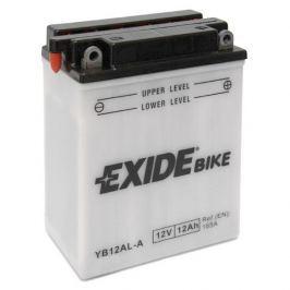 Exide baterie  EB12AL-A, 12V 12Ah, za sucha nabitá s antisulfační úpravou. Náplň součástí balení.