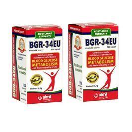 Aimil Pharmaceutical BGR-34EU 120 kapslí + 120 kapslí ZDARMA