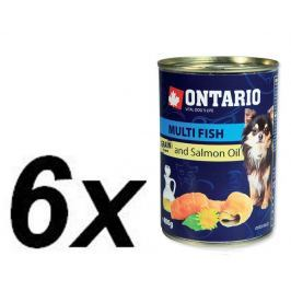 Ontario Konzerva Mini MULTI FISH and Salmon Oil 6 x 400g