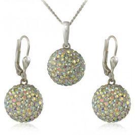 MHM Souprava šperků Kuličky M5 Crystal AB 34159 stříbro 925/1000