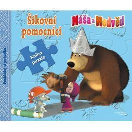 Animaccord: Máša a medvěd - Šikovní pomocníci - Kniha puzzle