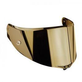 AGV plexi  RACE 2,, zrcadlová zlatá - pro přilby  PISTA GP, CORSA, GT VELOCE/S (1ks)