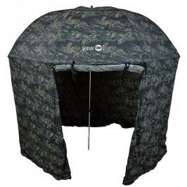Sensas Deštník s Bočnicí Camo Power Bivy 2,5 m