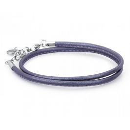Brosway Tmavě fialový kožený náramek Bracciale BBR30