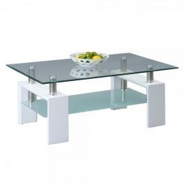 Artenat Konferenční stolek skleněný Victory, 110 cm, bílá