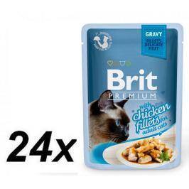 Brit Premium Cat Delicate Fillets in Gravy with Chicken 24 X 85 g