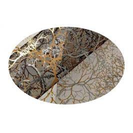 EverGreen Dekorační organza dekor černo-zlatá 2 x 1,5 m
