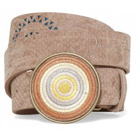 Desigual dámský pásek Chapon Bordado Calypso 85 béžová