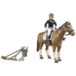 Bruder 62505 Jezdecký set - kůň, žena a příslušenství