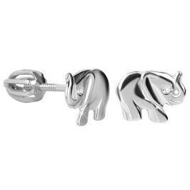 Brilio Silver Dětské stříbrné náušnice Slůně 431 001 02267 04 - 1,34 g stříbro 925/1000