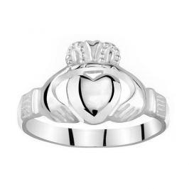 Silvego Dámský celostříbrný prsten Claddagh ZTR96391 (Obvod 56 mm) stříbro 925/1000
