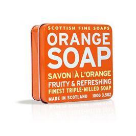 Scottish Fine Soap Ovocné mýdlo v plechu Pomeranč 100 g