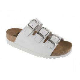 Scholl Zdravotní obuv RIO WEDGE AD Lea-W - bílá (Velikost vel. 40)