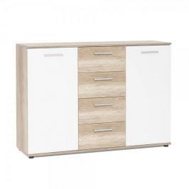 FARELA Kombinovaná skříň Emelie, 120 cm, divoký dub/bílá