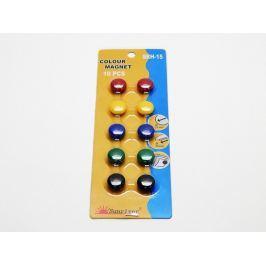 Magnety barevné 15 mm /10 ks mix barev
