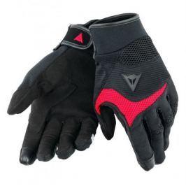 Dainese rukavice DESERT POON D1 vel.S černá/červená, textil (pár)