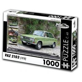 RETRO-AUTA© Puzzle č. 48 - VAZ 2103 (1978) 1000 dílků