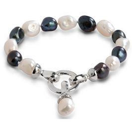 JwL Luxury Pearls Náramek z pravých perel ve dvou odstínech JL0317 stříbro 925/1000
