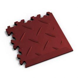 Fortelock Červený plastový vinylový rohový nájezd 2016 (diamant) - 14 x 14 x 0,7 cm