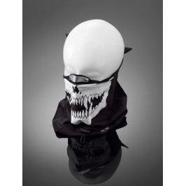 Highway-Hawk obličejová maska s nákrčníkem SKULL, hliníková spona na nos, bavlna