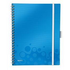 Blok mobilní Leitz WOW A4 čtverečkovaný metalicky modrý