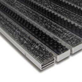 FLOMAT Hliníková textilní čistící vnitřní vstupní kartáčová rohož Alu Extra - 100 x 100 x 1,7 cm