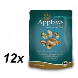 Applaws Kapsička Cat - tuňák a celé ančovičky 12 x 70g