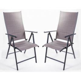 MAKERS SAN REMO 2 ks židle, tmavě šedá