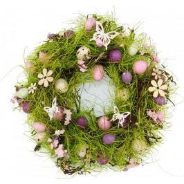 Seizis Velikonoční věnec s motýlky 27 cm, fialový