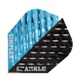 Harrows Letky Dimplex Sparkle Black and Blue F2498