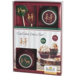 Birkmann Vánoční sada na zdobení muffinů NOSTALGIC CHRISTMAS