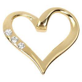 Brilio Zlatý přívěsek srdce s krystaly 249 001 00354 - 0,80 g zlato žluté 585/1000