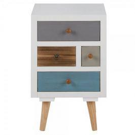 Design Scandinavia Noční stolek se zásuvkami Thess, 59 cm