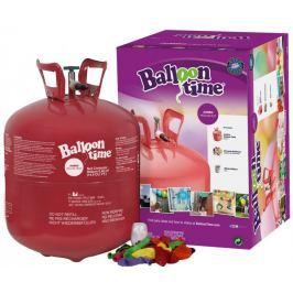 Helium Ballon Time do balónků - jednorázová nádoba 420 l + 50 latexových balónků
