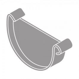 LanitPlast Čelo žlabu RG 75 půlkulaté šedá barva