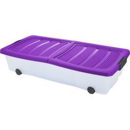KAISERHOFF Pojízdný úložný box s víkem 32 l fialová