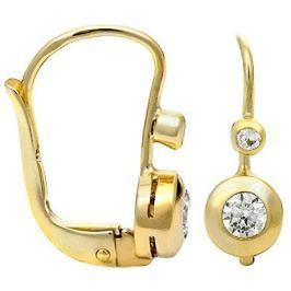 Brilio Zlaté náušnice s krystaly 239 001 00061 - 1,60 g zlato žluté 585/1000