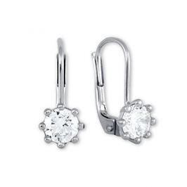 Brilio Silver Stříbrné náušnice s krystaly 436 001 00235 04 - 1,28 g stříbro 925/1000