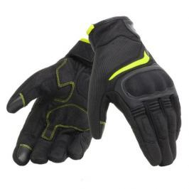 Dainese rukavice AIR MASTER vel.S Unisex, černá/fluo-žlutá, textil/kůže, letní
