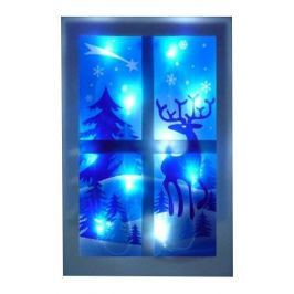 Seizis Dekorační okno rovné s 10LED žárovkami modré