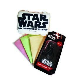 KAJA Dárkový set, sada do auta, 5 ks, motiv Star Wars, houba nápis Star Wars, vůně Black