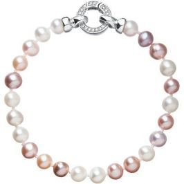 Evolution Group Barevný perlový náramek 23004.3 A stříbro 925/1000