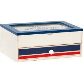 Time Life Úložná krabička s šuplíkem, modrá