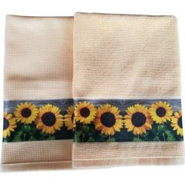 Framsohn Set kuchyňského ručníku a utěrky, Sunflowers