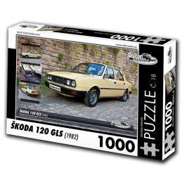 RETRO-AUTA© Puzzle č. 18 - ŠKODA 120 GLS (1982) 1000 dílků