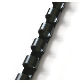Hřbet pro kroužkovou vazbu 8 mm černý / 100 ks
