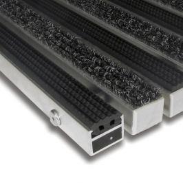 FLOMAT Hliníková textilní gumová čistící vnitřní vstupní rohož Alu Standard - 80 x 120 x 2,7 cm