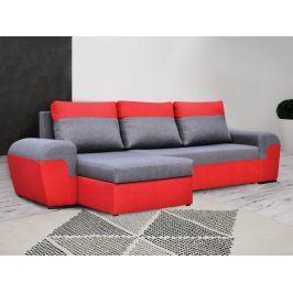 Rohová sedačka MORY KORNER, šedá/červená DOPRODEJ