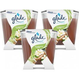 Glade Pack Svíčka Decor Santalové dřevo 3x 70 g